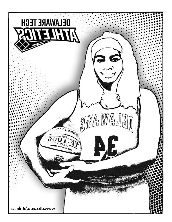 Delaware Tech basketball coloring page link.