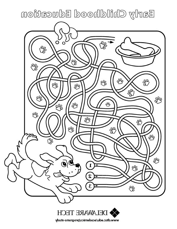 Delaware Tech early childhood coloring page link.