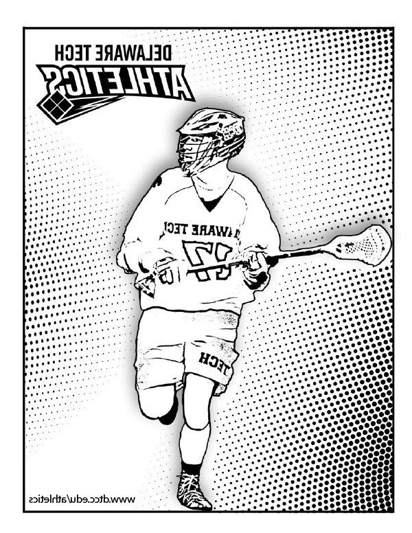 Delaware Tech lacrosse coloring page link.