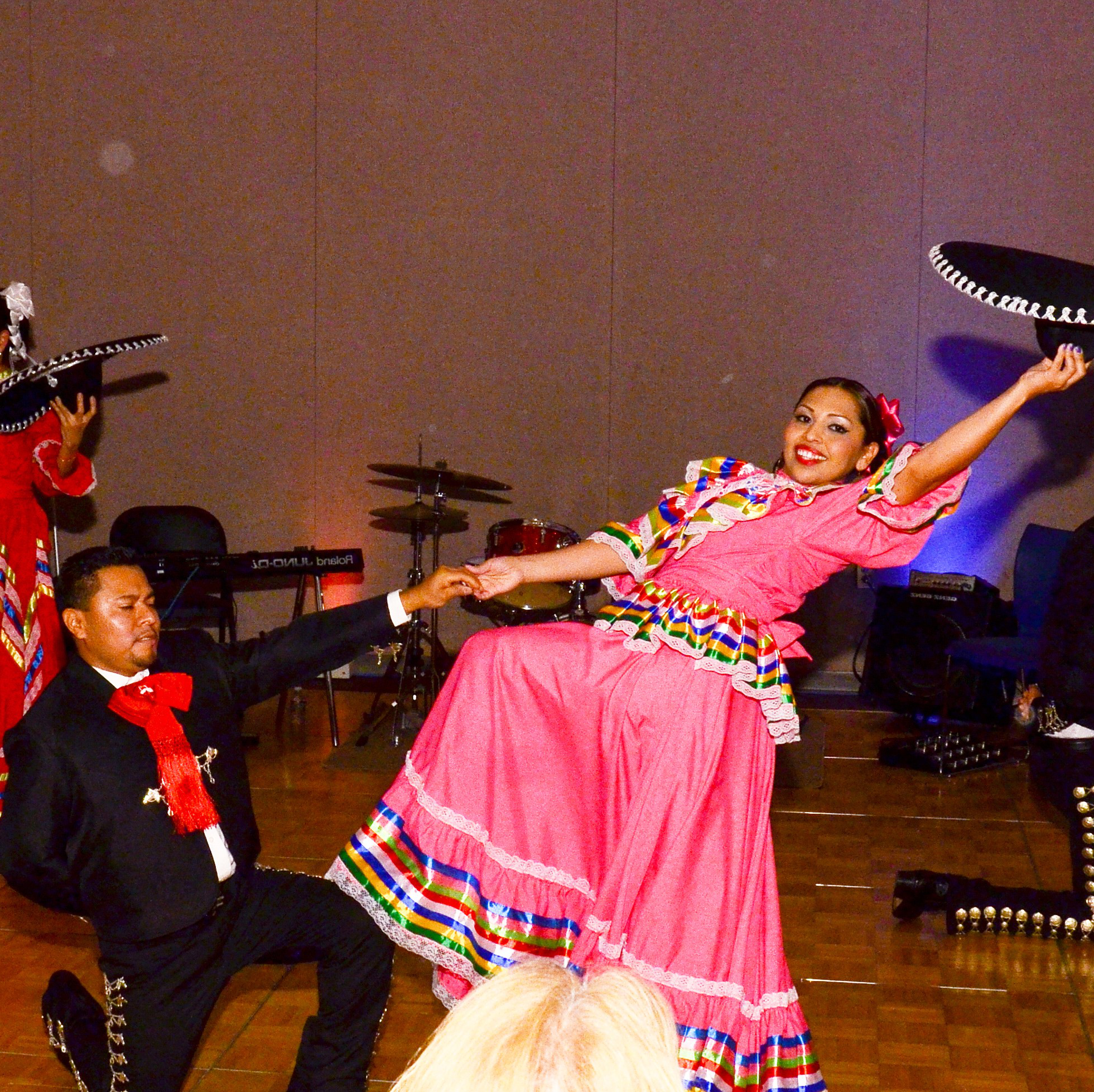 Traditional Mexican dancers performing