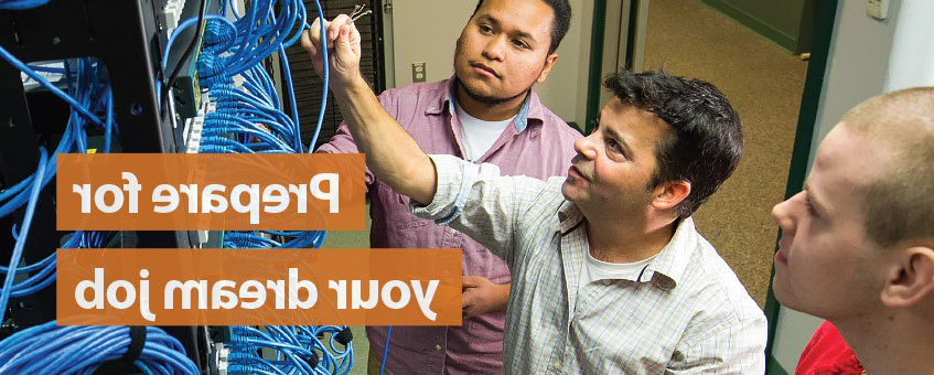 Prepare for your dream job - students working with server equipment